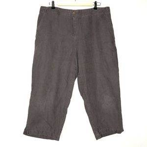 Charter Club 100% Linen Brown Relaxed Fit Pants